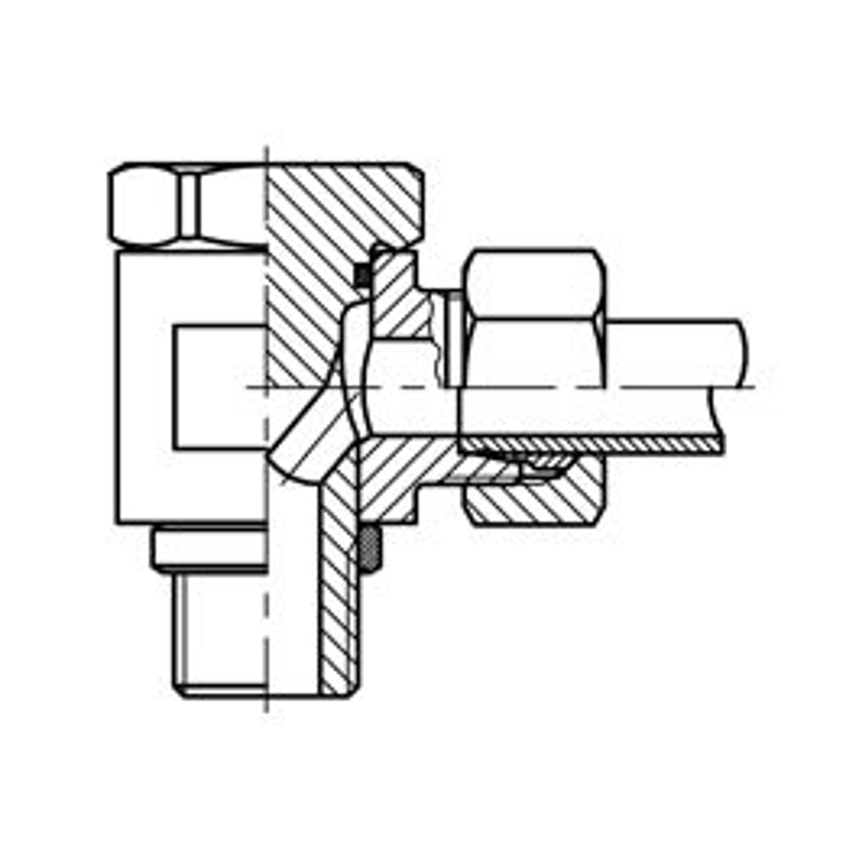 Skärringskoppling RAK WHB G-gänga L-serie syrafast