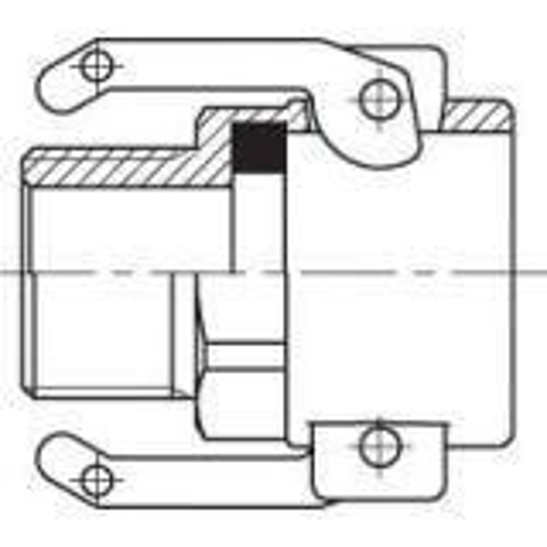 Camlock coupling B